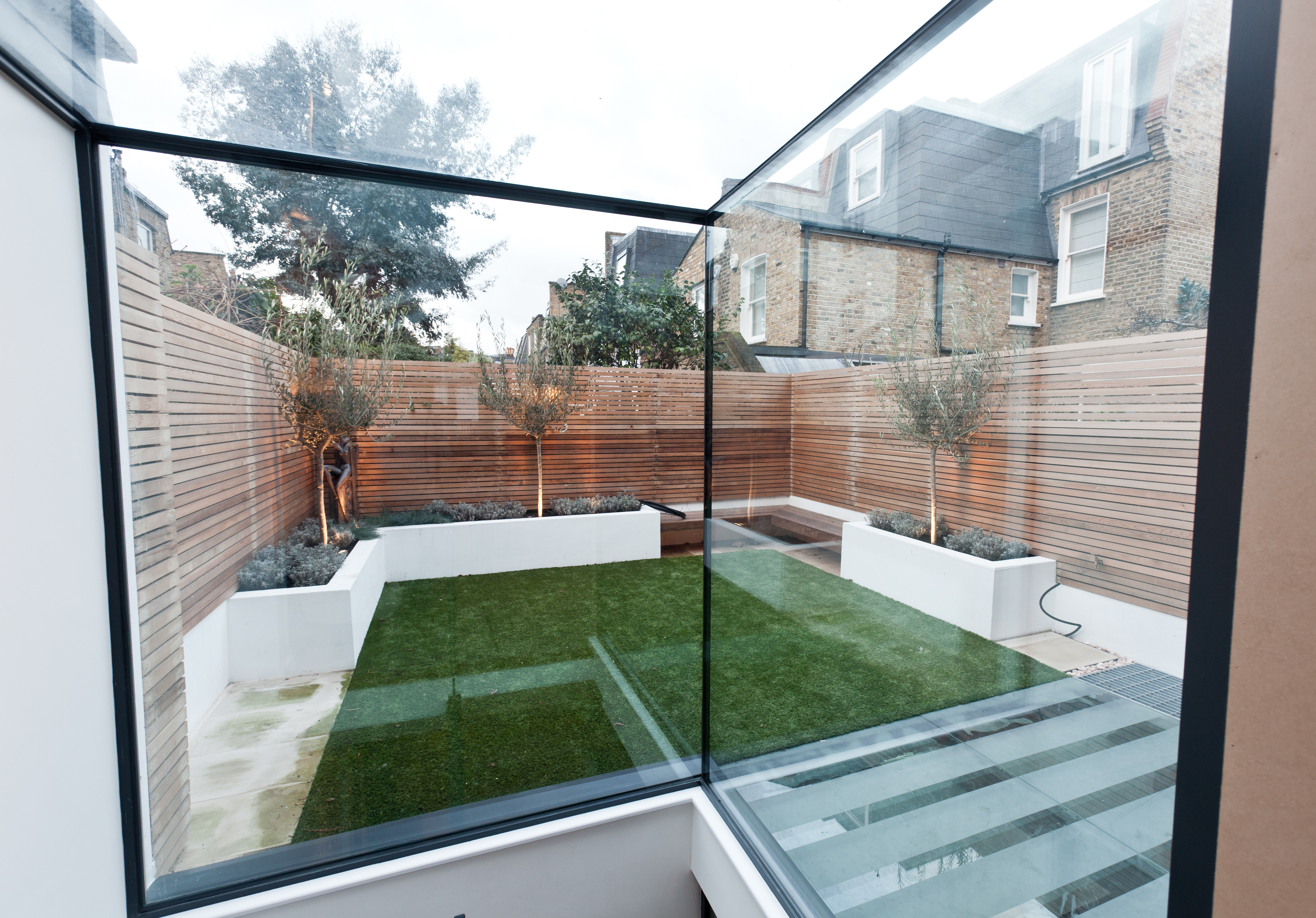 London basement extensions garden design shape for Garden conversion