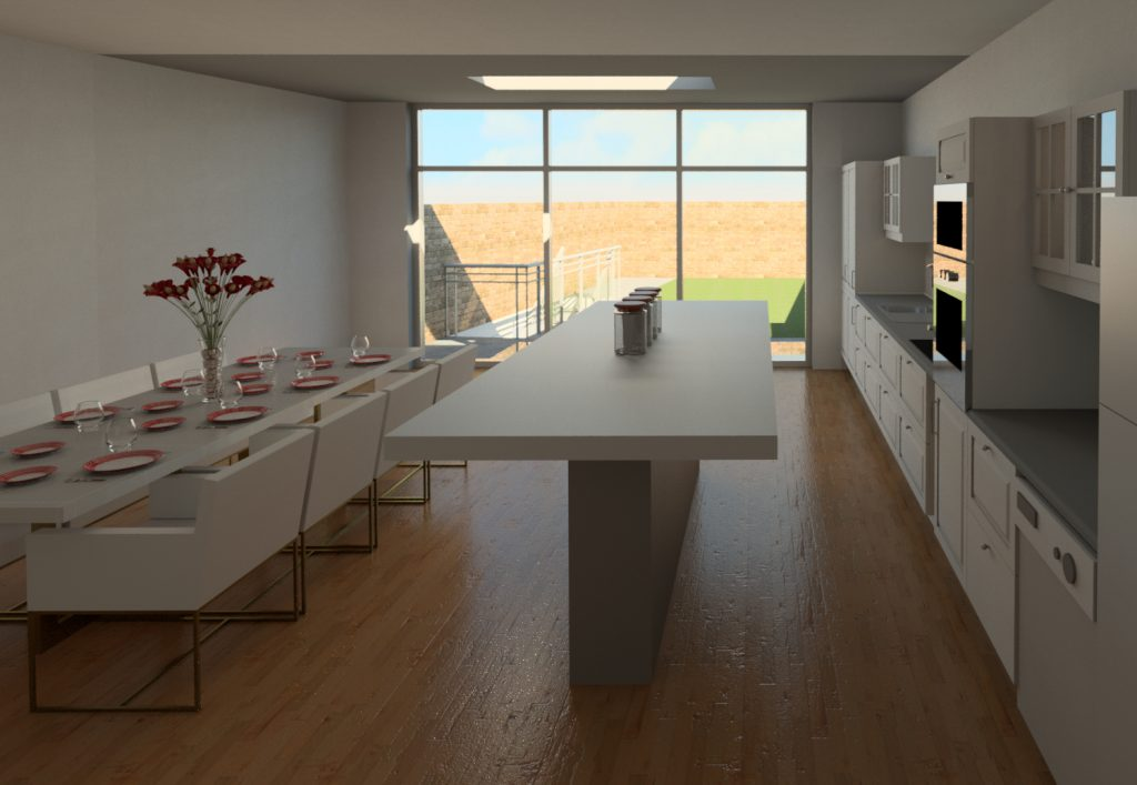 Joint Planning permissions allow higher developments at the Party Wall on the Ground Floor side.