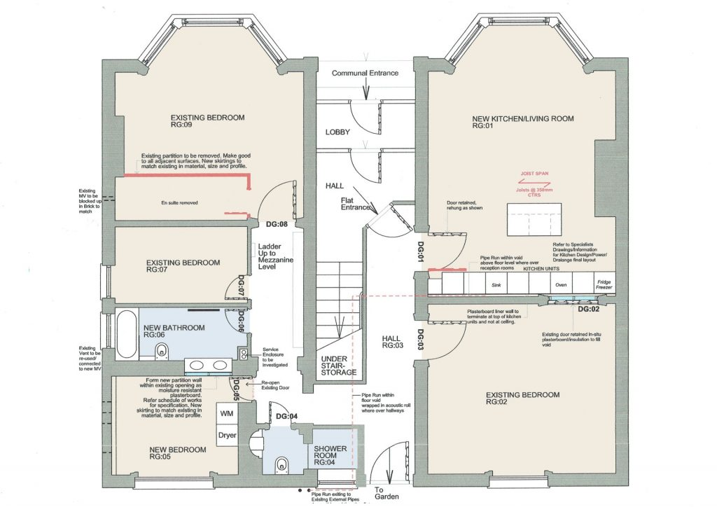 Floorplans for planning application for development in Brighton