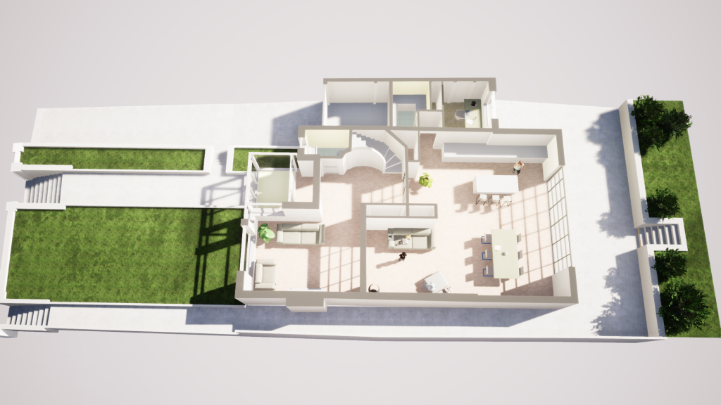 floor plan render of shirley drive development extension sussex property