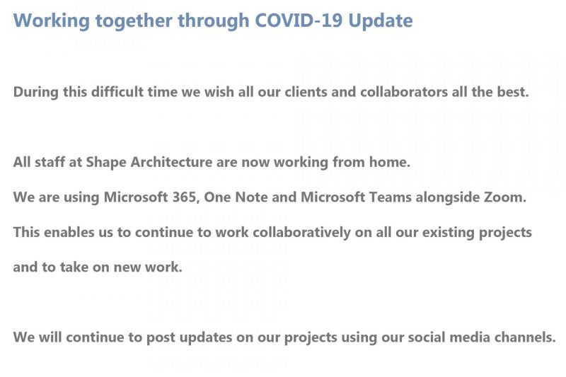 Working together through COVID-19
