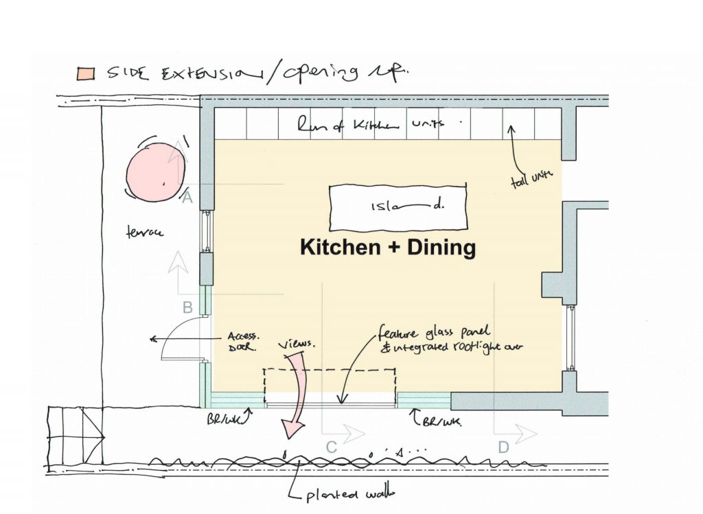 kitchen and dining extension rugby road