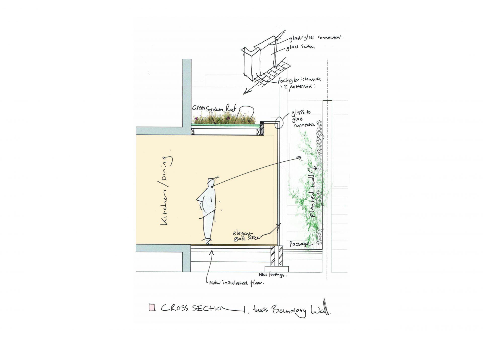 sedum roof sketch details for rugby road