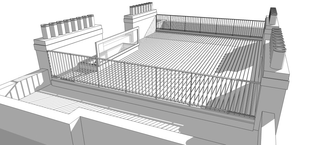 roof terrace design model