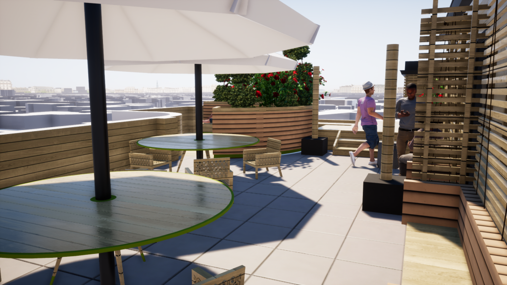 roof terrace floring court roof design wood summer roof landscaping