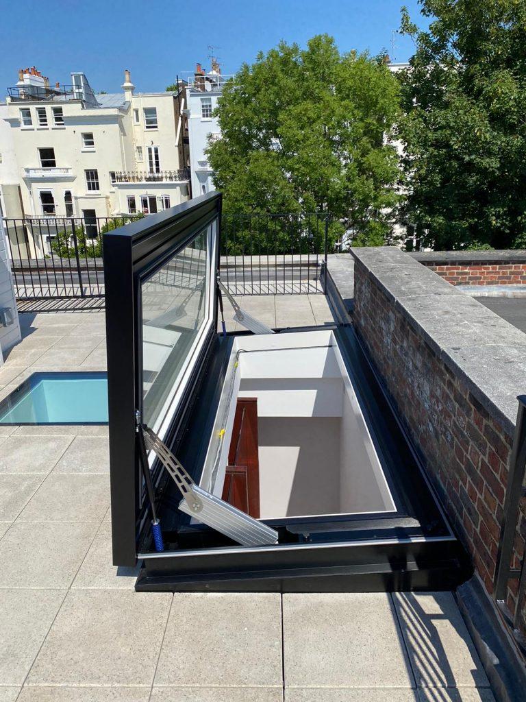 roof terrace roof light roof design
